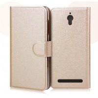 Текстурный чехол портмоне с застежкой и внутренними карманами для ASUS Zenfone C