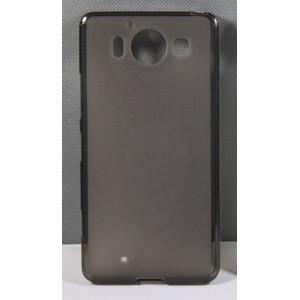 Силиконовый матовый полупрозрачный чехол для Microsoft Lumia 950 Черный