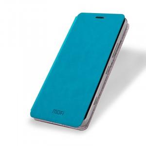 Чехол флип подставка водоотталкивающий для Microsoft Lumia 950 Голубой