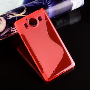Силиконовый S чехол для Microsoft Lumia 950 Красный