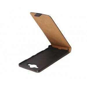 Чехол вертикальная книжка на пластиковой основе с магнитной застежкой для Microsoft Lumia 950 Черный
