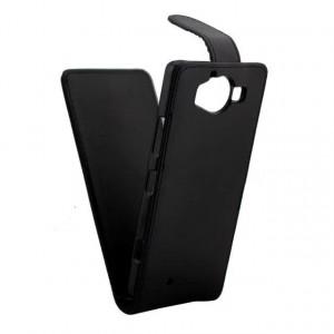 Чехол вертикальная книжка на пластиковой основе с магнитной застежкой для Microsoft Lumia 950