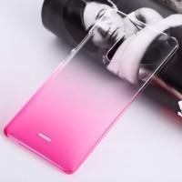 Пластиковый градиентный полупрозрачный чехол для ZTE Blade X9 Пурпурный