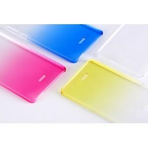 Пластиковый градиентный полупрозрачный чехол для ZTE Blade X9