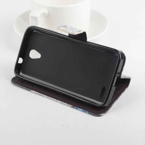 Чехол портмоне подставка с защелкой с полноповерхностным принтом для Alcatel One Touch Pop 2 (4.5)