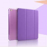 Чехол смартфлип подставка сегментарный на полупрозрачной поликарбонатной основе для Ipad Mini 4 Фиолетовый
