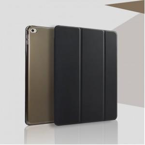 Чехол смартфлип подставка сегментарный на полупрозрачной поликарбонатной основе для Ipad Mini 4 Черный