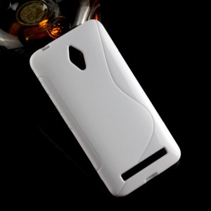 Силиконовый S чехол для ASUS Zenfone Go Белый