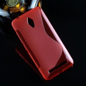 Силиконовый S чехол для ASUS Zenfone Go Красный