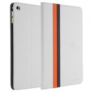 Чехол подставка на поликарбонатной основе с дизайнерской полоской для Ipad Mini 4 Белый