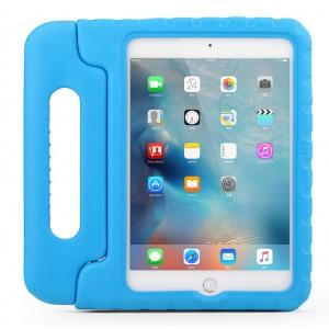 Противоударный детский силиконовый чехол с ручкой для планшета Ipad Mini 1/2/3 Голубой