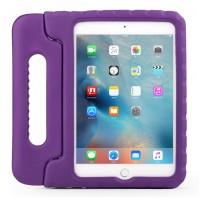 Противоударный детский силиконовый чехол с ручкой для планшета Ipad Mini 1/2/3 Фиолетовый