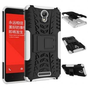 Антиударный гибридный чехол экстрим защита силикон/поликарбонат для Xiaomi RedMi Note 2 Белый
