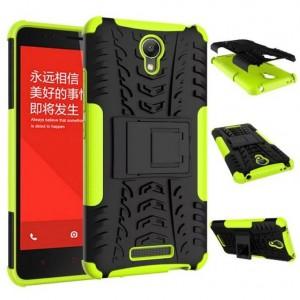 Антиударный гибридный чехол экстрим защита силикон/поликарбонат для Xiaomi RedMi Note 2 Зеленый