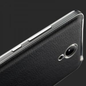 Встраиваемый чехол накладка с кожаным покрытием для Xiaomi RedMi Note 2