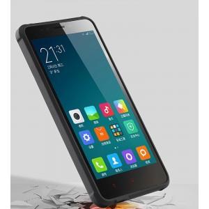 Антиударный нанотонкий 0.8 мм силиконовый матовый непрозрачный усиленный чехол для Xiaomi RedMi Note 2