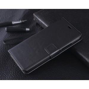 Чехол портмоне подставка с защелкой для Xiaomi RedMi Note 2 Черный