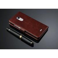 Чехол портмоне подставка с защелкой для ZTE Blade X9 Коричневый