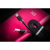 Сверхпрочный двухканальный силиконовый кабель USB-MicroUSB/Lightning 1 м с LED-индикацией процесса зарядки Черный