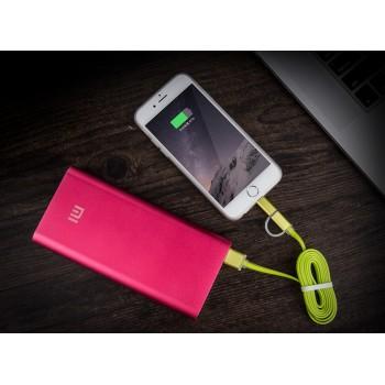Сверхпрочный двухканальный силиконовый кабель USB-MicroUSB/Lightning 1 м с LED-индикацией процесса зарядки Зеленый