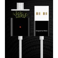 Эксклюзивный инновационный магнитный зарядный симметричный смарт-кабель USB-MicroUSB 2.0 1м для мгновенного подсоединения гаджета Черный