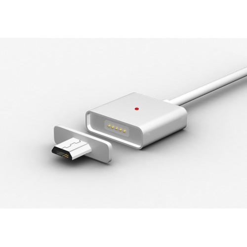 Эксклюзивный инновационный магнитный зарядный симметричный смарт-кабель USB-MicroUSB 2.0 1м для мгновенного подсоединения гаджета