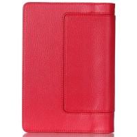 Чехол подставка с полной защитой экрана и корпуса на липучке для Lenovo Yoga Tab 3 8 Красный