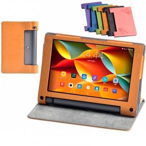 Текстурный чехол подставка с рамочной защитой и принтом для Lenovo Yoga Tab 3 8