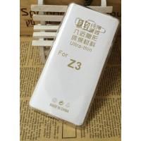 Силиконовый транспарентный чехол для Samsung Z3