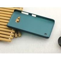 Пластиковый матовый металлик чехол для Microsoft Lumia 550 Зеленый