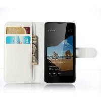 Чехол портмоне подставка с защелкой для Microsoft Lumia 550 Белый