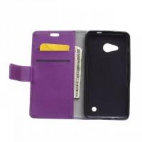 Чехол портмоне подставка на силиконовой основе с защелкой для Microsoft Lumia 550