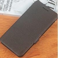 Чехол флип подставка на силиконовой основе текстура Дерево для Philips Xenium V787 Черный