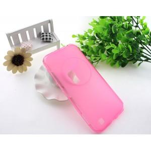 Силиконовый матовый полупрозрачный чехол для Asus Zenfone Zoom Розовый