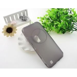 Силиконовый матовый полупрозрачный чехол для Asus Zenfone Zoom Черный