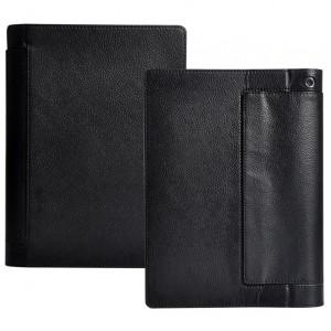Кожаный чехол подставка с полной защитой экрана и корпуса на липучке для Lenovo Yoga Tab 3 10 Черный