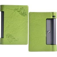 Чехол подставка с рамочной защитой экрана и рельефным принтом для Lenovo Yoga Tab 3 10 Зеленый