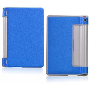 Чехол подставка текстурный на поликарбонатной основе для Lenovo Yoga Tab 3 10 Синий