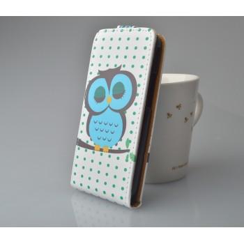 Чехол вертикальная книжка на пластиковой основе с магнитной застежкой с полноповерхностным принтом для LG L90