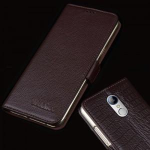 Кожаный чехол портмоне (нат. кожа) для ZTE Blade X9