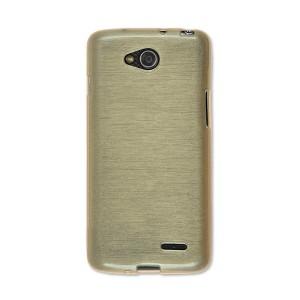 Силиконовый текстурный матовый чехол текстура Металл для LG L90