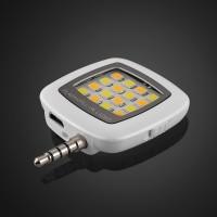 Квадратная LED-вспышка 200мАч 3 Вт с регулятором яркости и подключением через аудиоразъем Белый