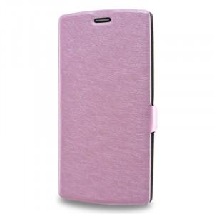 Текстурный чехол флип подставка на пластиковой основе для LG G4 S Розовый