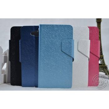 Текстурный чехол флип подставка с магнитной застежкой для LG L90