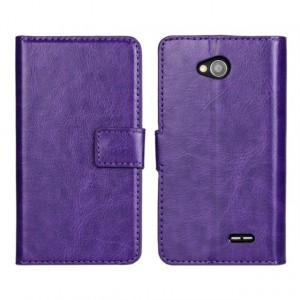 Глянцевый чехол портмоне подставка с защелкой для LG L90 Фиолетовый