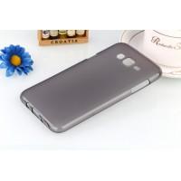 Силиконовый матовый полупрозрачный чехол для Samsung Galaxy J7 Черный