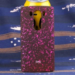Пластиковый матовый дизайнерский чехол с голографическим принтом Звезды для LG V10