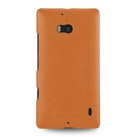 Кожаный чехол накладка (нат. кожа) для Nokia Lumia 930 оранжевая