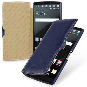 Кожаный чехол горизонтальная книжка (нат. кожа) с крепежной застежкой для LG V10