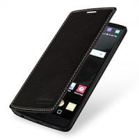 Кожаный чехол горизонтальная книжка (нат. кожа) для LG V10 Фиолетовый